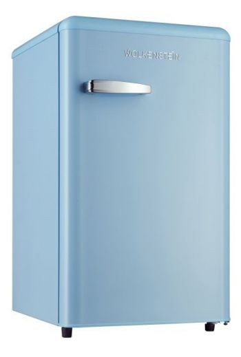 WOLKENSTEIN KS95RTLB retro jääkaappi 87cm, vaaleansininen