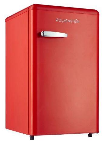 WOLKENSTEIN KS95RTFR retro jääkaappi 87cm, punainen