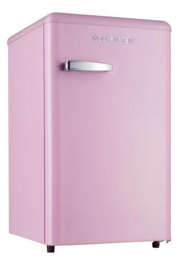 WOLKENSTEIN KS95RTSP retro jääkaappi 87cm, roosa