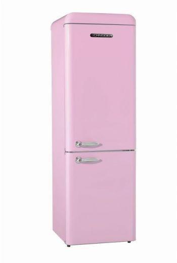 SCHAUB-LORENZ SL250SPCB retro jääkaappipakastin 182cm, roosa kiiltävä