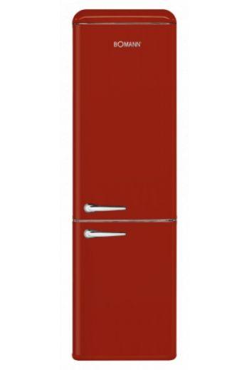 Bomann KGR7328R punainen retro jääkaappipakastin 188cm