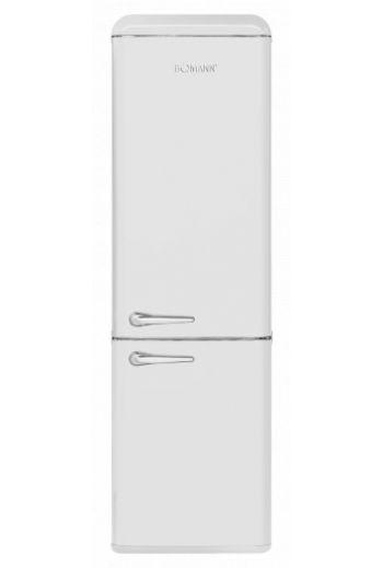 Bomann KGR7328W valkoinen retro jääkaappipakastin 188cm