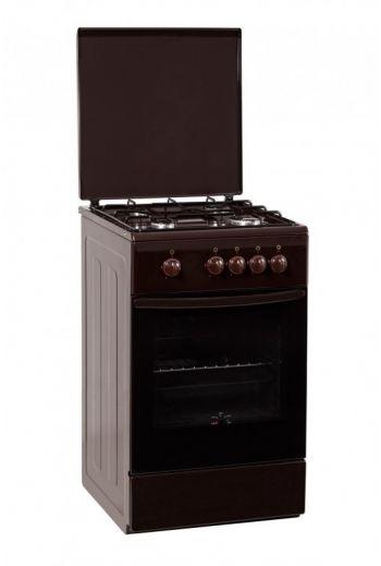 Schlosser F504G1E ruskea kaasuliesi sähköuunilla 50cm
