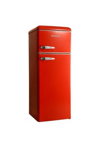 SNAIGE FR24SM-PRR50E kirkkaan punainen retro jenkkikaappi 148 cm