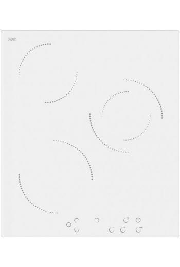 Schlosser CTS5001WH valkoinen keraaminen liesitaso 45 cm